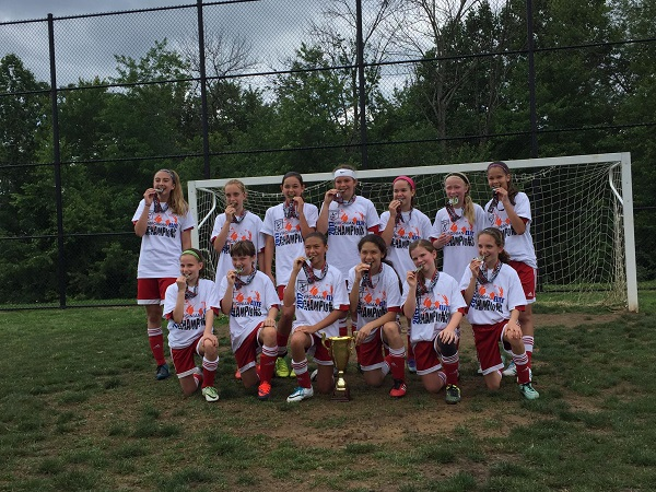 05 Girls Red Virginian Elite Soccer Tournament Champions